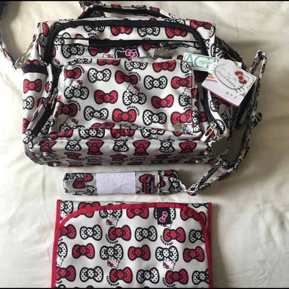 0165033f5212 Jujube peek a bow BFF diaper bag tote backpack
